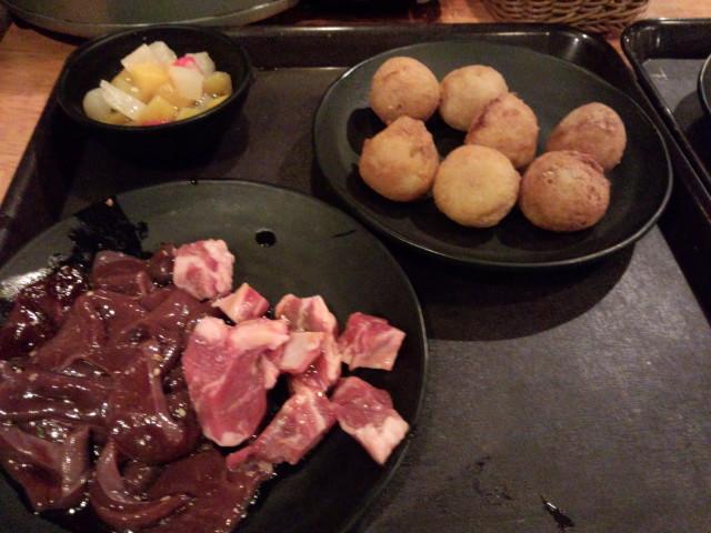 お肉は・・・ですがたこ焼きがお気に入りなんです。