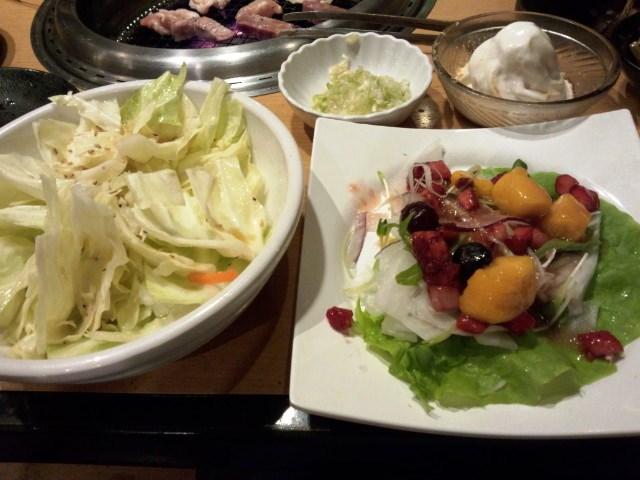 自分は野菜にアイスにお肉を少しと変わってるんです(笑)